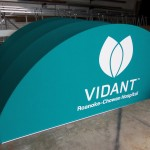 Round Marquee w/ Signbanners (Rail) & Graphic