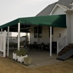Permanent Awning w/ Valance & Ceiling Fan