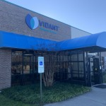 Vidant_Ahoskie_2019_3 This is a Convex merged with a Round Marquee, with vinyl fabric.