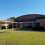 WHRobinsonElementary_2019_1  Extruded Pan & Cap walkway canopy.