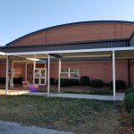 WHRobinsonElementary_2019_2 Extruded Pan & Cap walkway canopy.