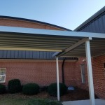 WHRobinsonElementary_2019_3  Extruded Pan & Cap walkway canopy.