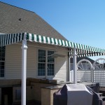 Permanent Awning w/ Valance & Ceiling Fans